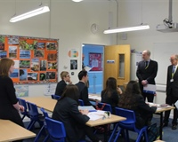 Schools Minister praises the progress made at Nova Hreod Academy
